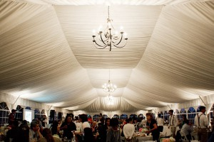 40x100 tent with chandeliers