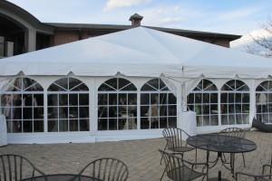 40x40 Navi Trac Tent with window walls