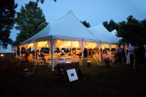 50x100 Century Tent Wedding