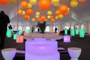Lanterns under Century Tent