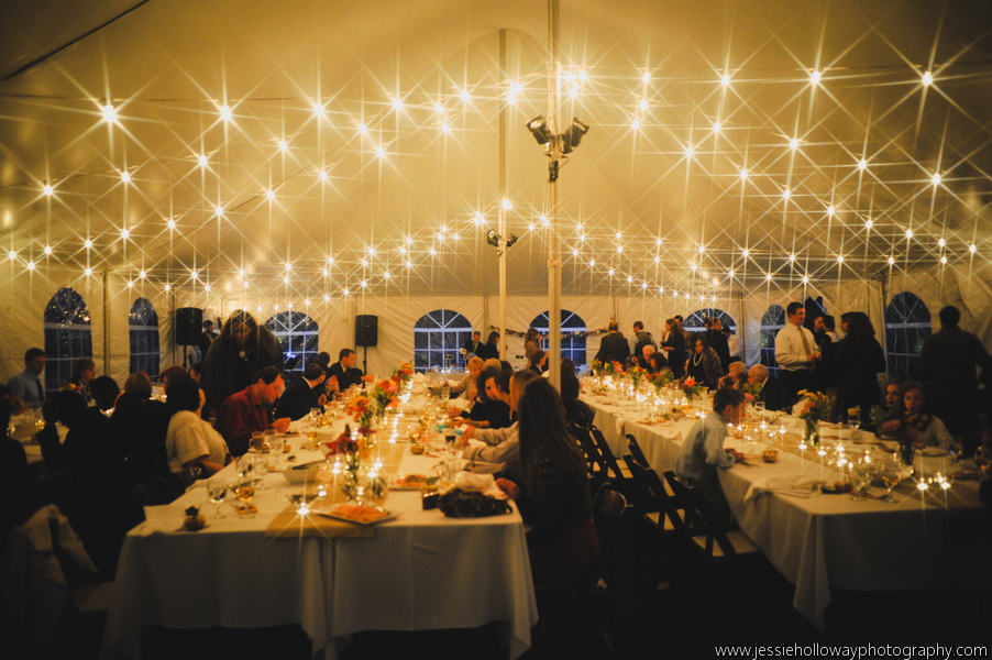 Italian cafe lighting blue peak tents inc for Wedding tent lighting ideas