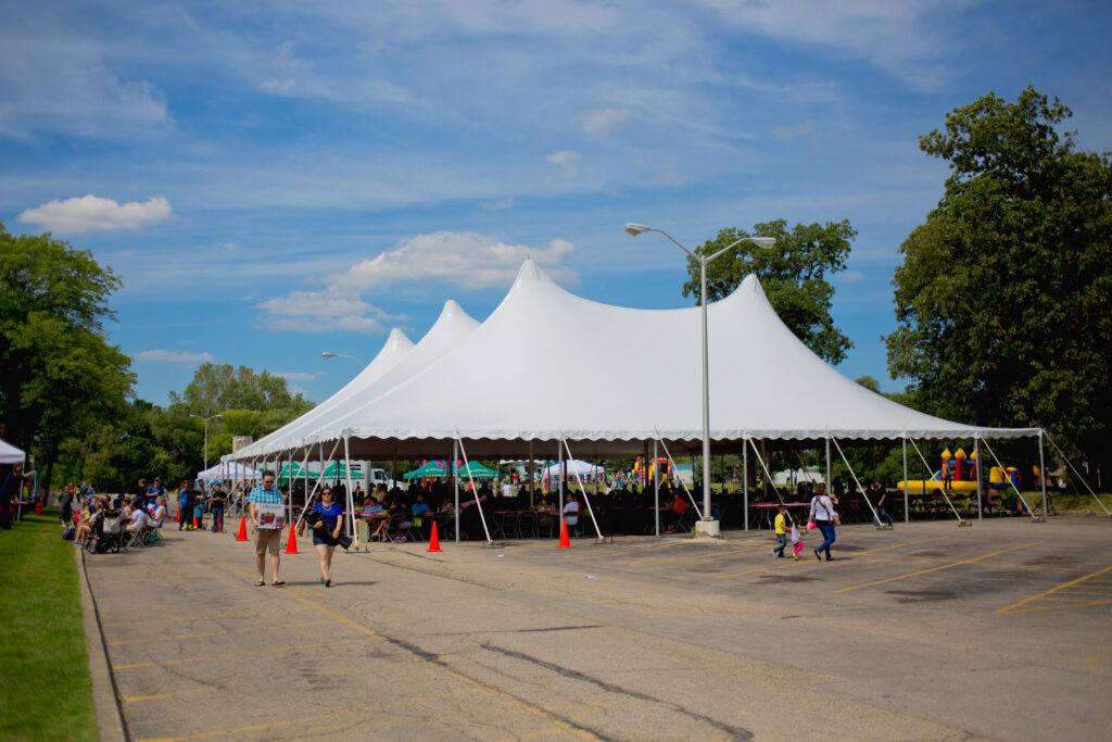 80x100 Festival Tent Rental