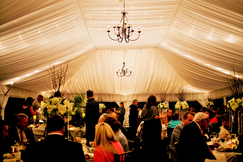 40x60 tent with liner & 40×60 Elegant Wedding | Blue Peak Tents Inc.