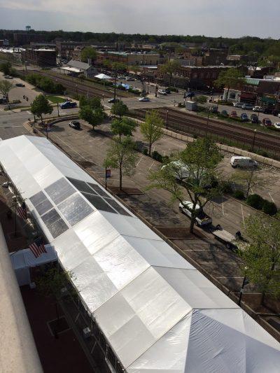 40x220 frame tent rental