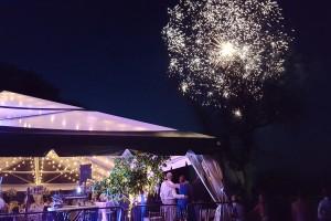Fireworks wedding tent