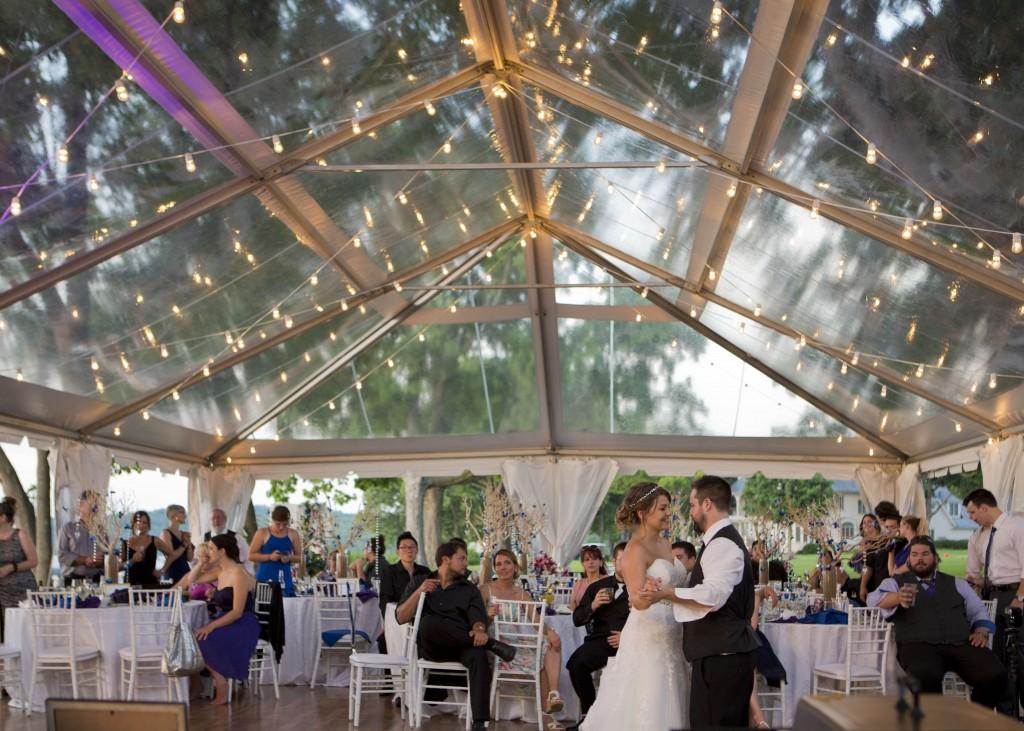First Dance wedding tent rental