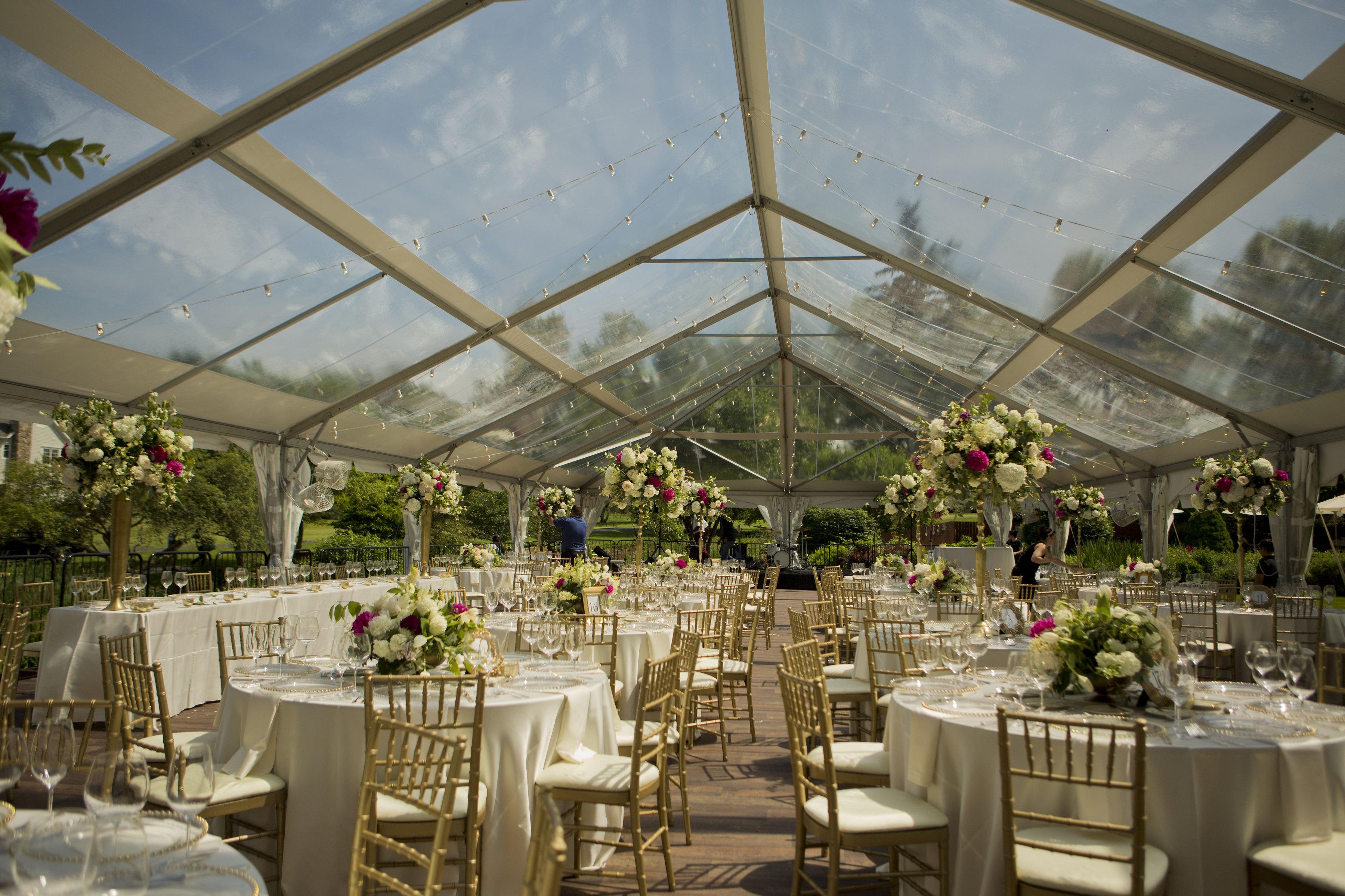 Elegant Clear Top Tent Wedding Blue Peak Tents Inc