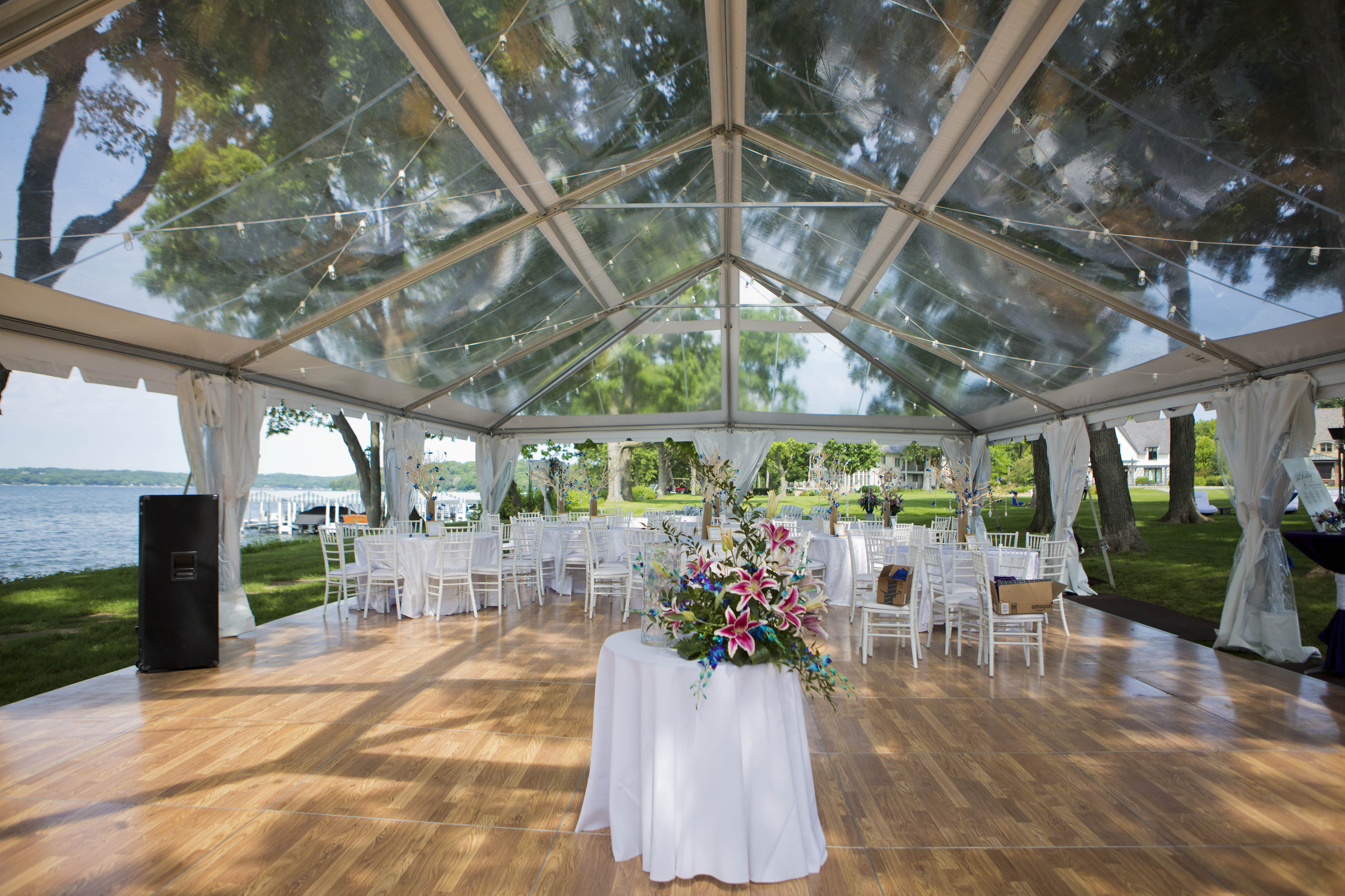 Clear Top Wedding Tent Blue Peak Tents Inc