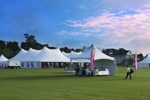 yoga festival tents