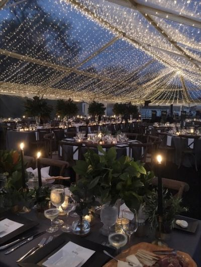 sea of lights 40x120 clear top tent