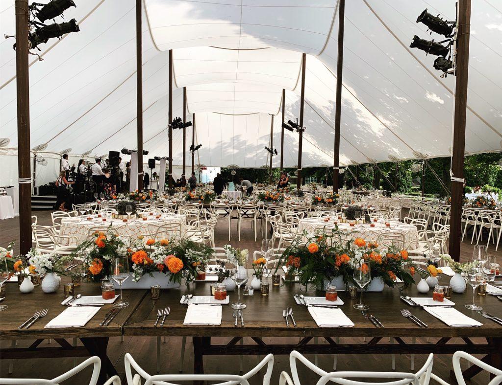 sailcloth tent wood floor
