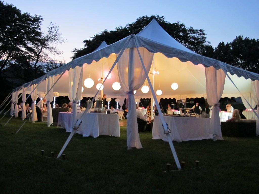 Tenting & Tent Leg Draping | Blue Peak Tents Inc.