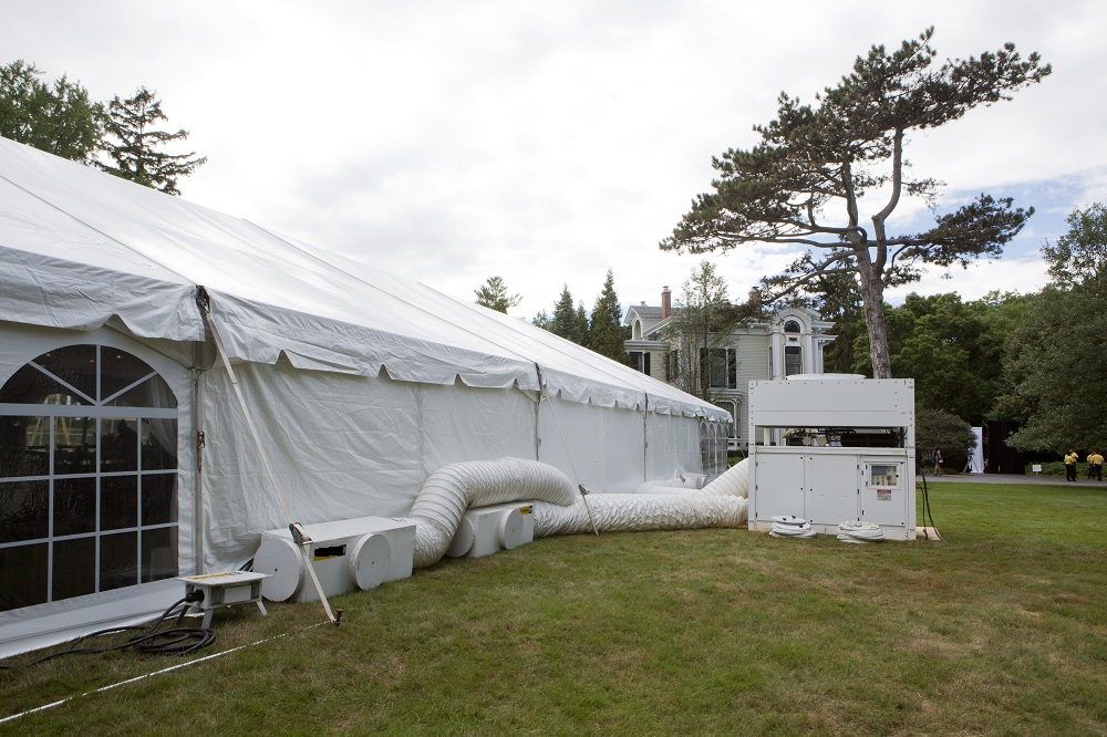 Tenting & Air-Conditioning | Blue Peak Tents Inc.