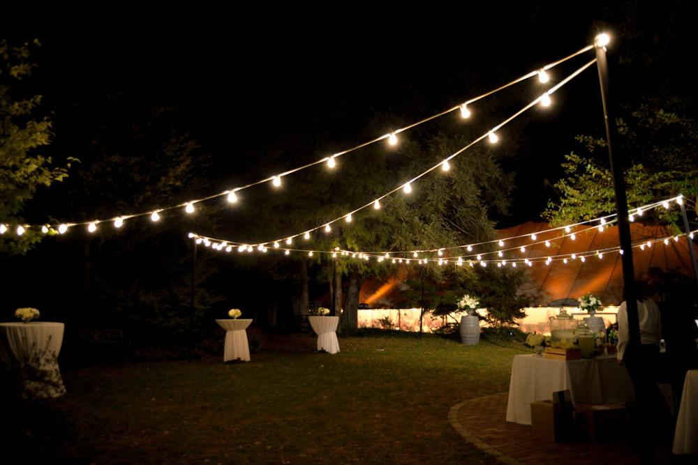 Open Air Outdoor Café Lighting Blue Peak Tents Inc