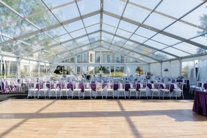 60x100 clearspan clear top tent rental