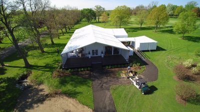 golf course venue tent rental