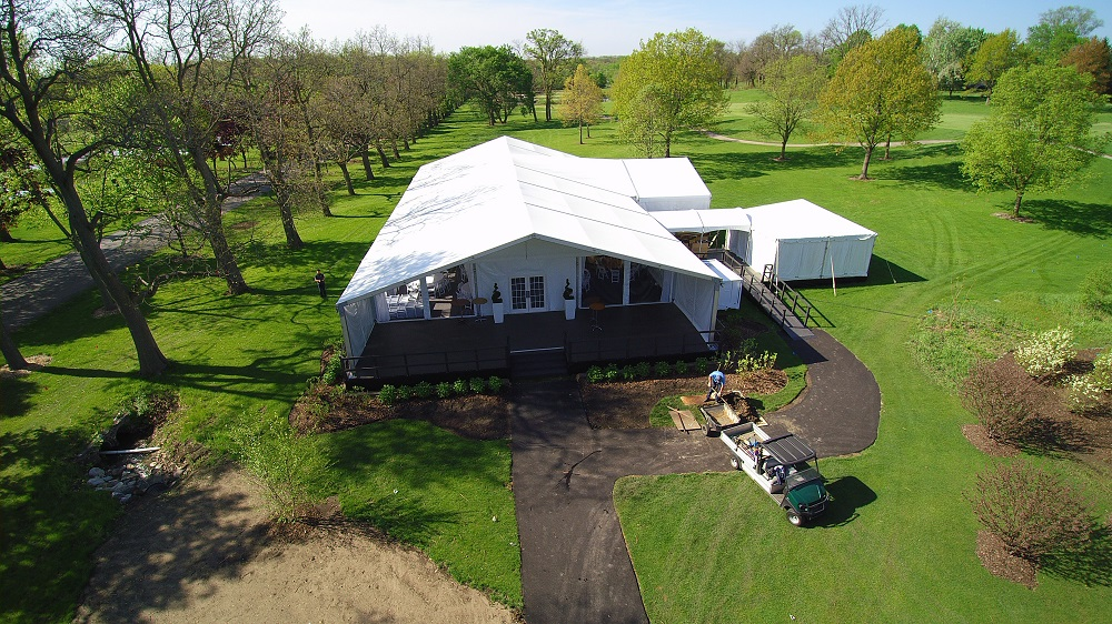 golf course venue tent rental