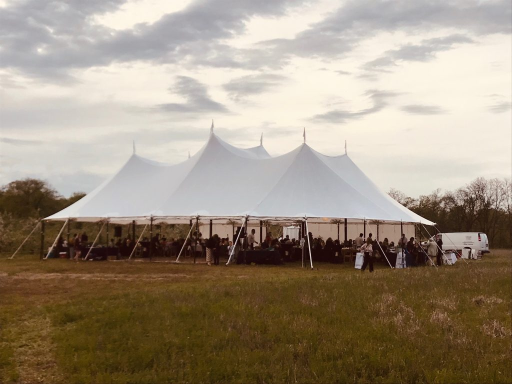 sailcloth tent weddign rental wisconsin