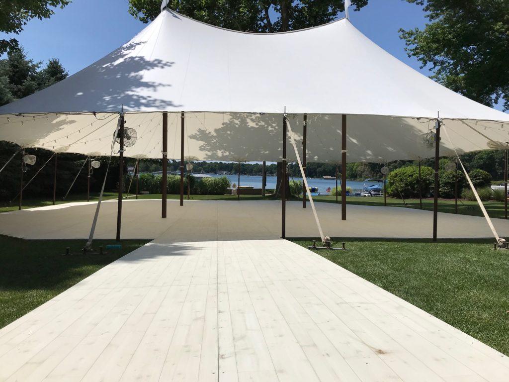 tent hardwood flooring