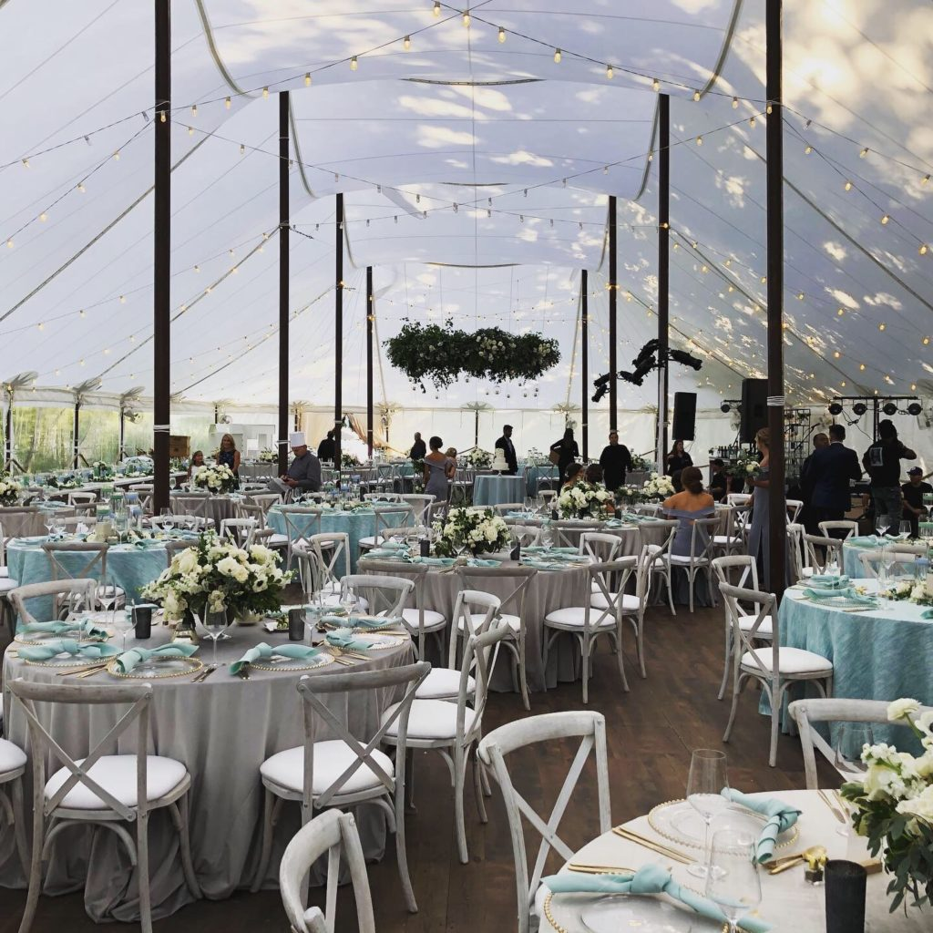 lake geneva wedding tent