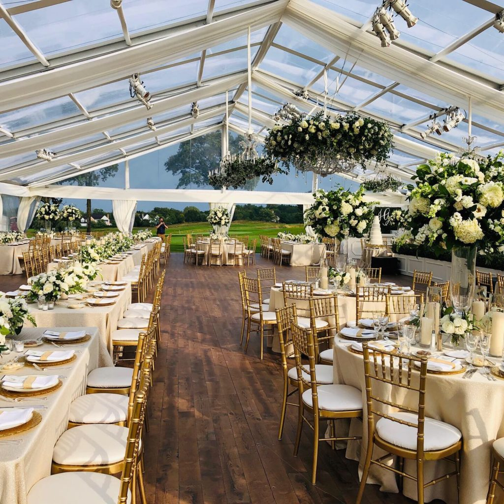 clear top tent rental hardwood floor