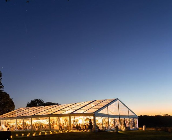 clear top wedding tent structure