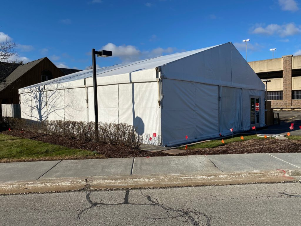 medical testing tent rental